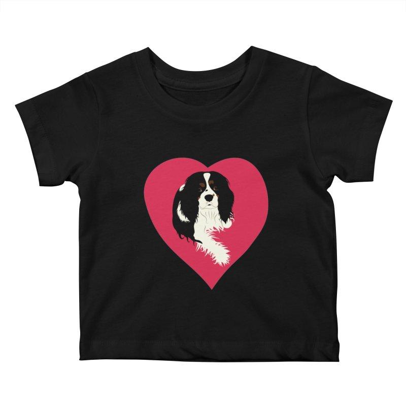 Cavalier Love Kids Baby T-Shirt by buxmontweb's Artist Shop