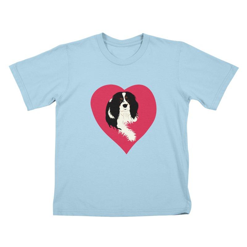 Cavalier Love Kids T-Shirt by buxmontweb's Artist Shop