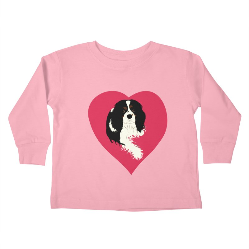 Cavalier Love Kids Toddler Longsleeve T-Shirt by buxmontweb's Artist Shop