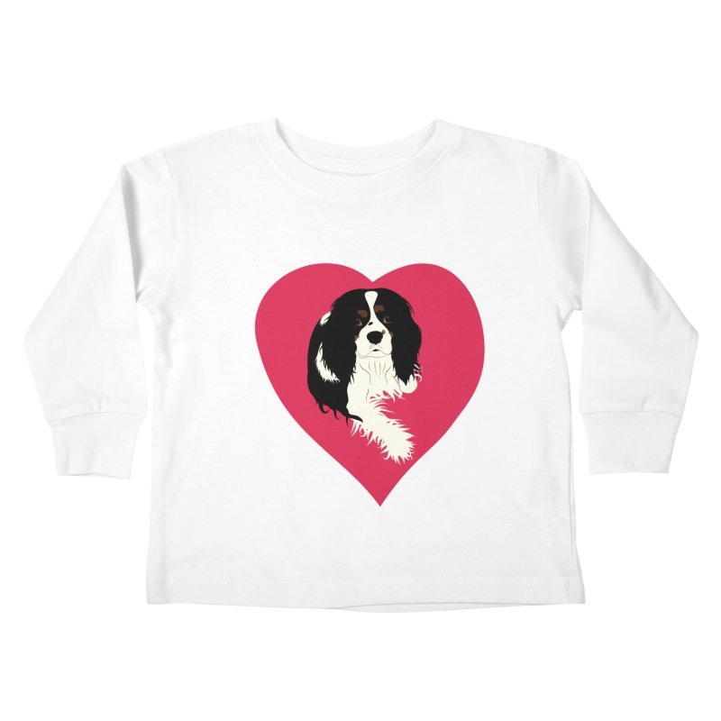 Cavalier Love Kids Toddler Longsleeve T-Shirt by buxmontweb's Artist Shop