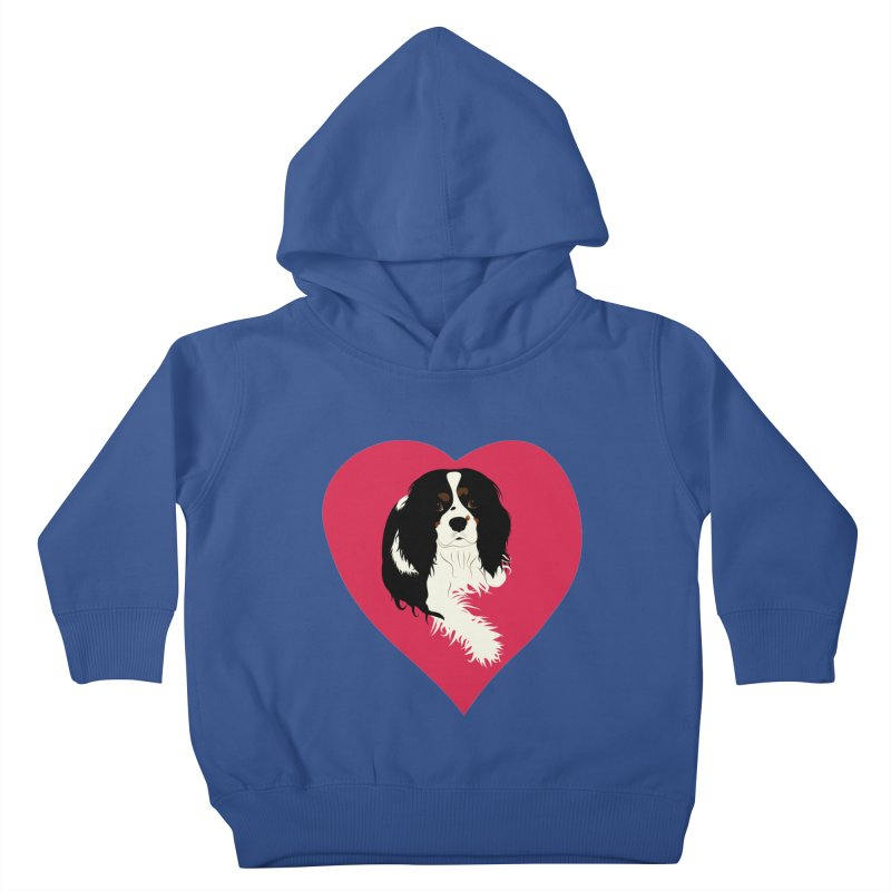 Cavalier Love Kids Toddler Pullover Hoody by buxmontweb's Artist Shop