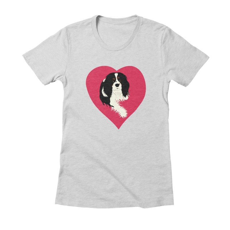 Cavalier Love Women's Fitted T-Shirt by buxmontweb's Artist Shop