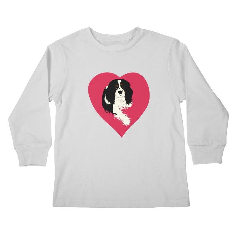 Cavalier Love Kids Longsleeve T-Shirt by buxmontweb's Artist Shop