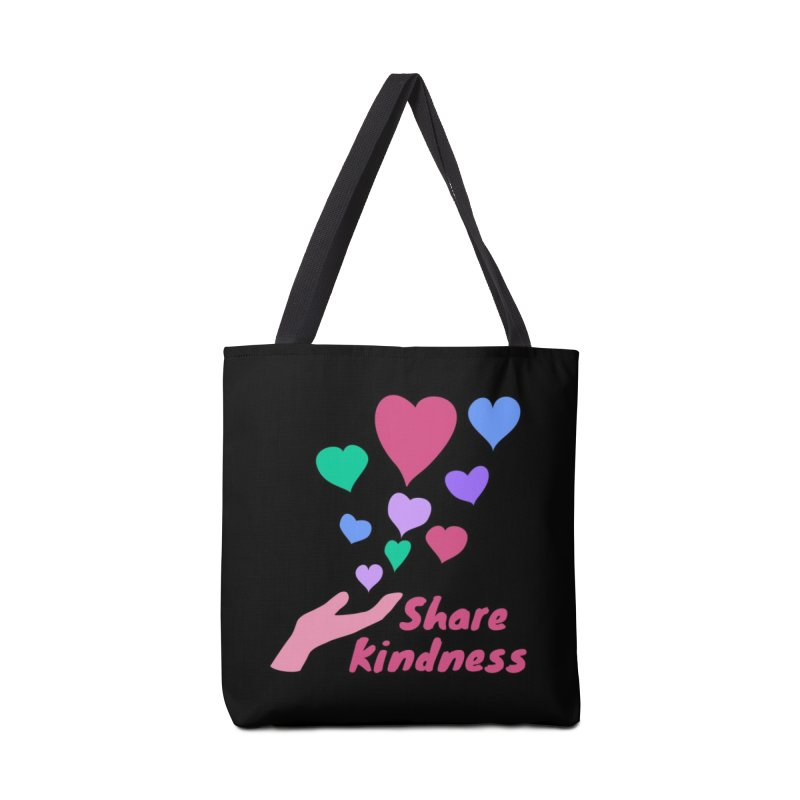 Share Kindness - Dark Background Accessories Bag by buxmontweb's Artist Shop