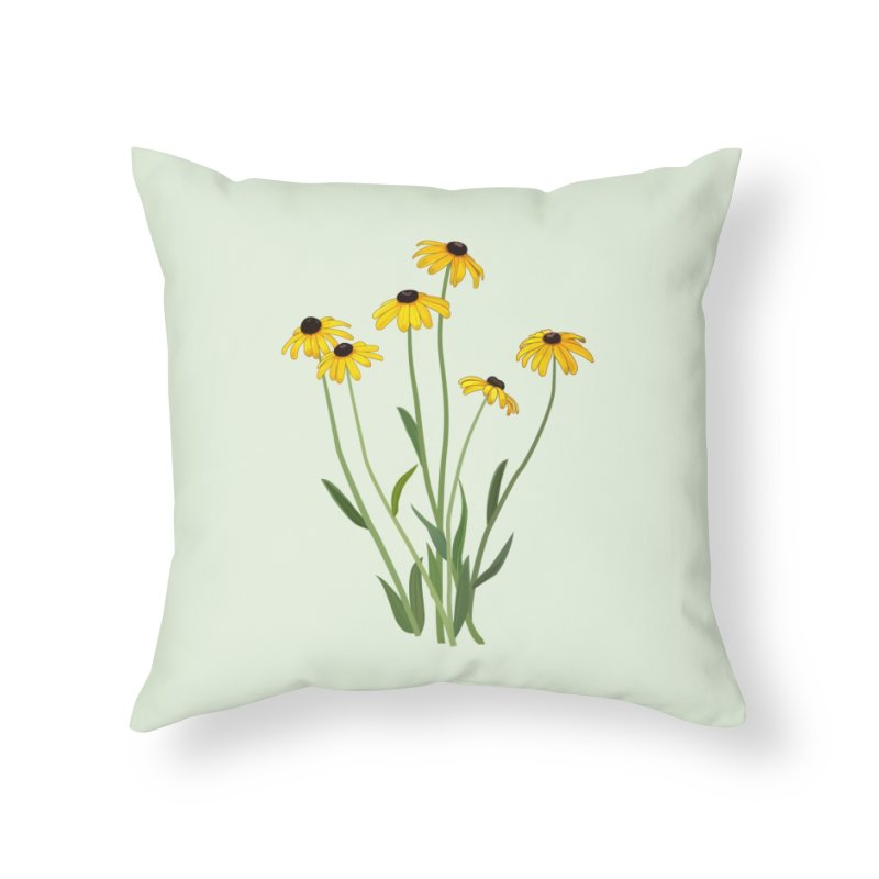 Black Eyed Susans - Wildflower Collection Home Throw Pillow by buxmontweb's Artist Shop