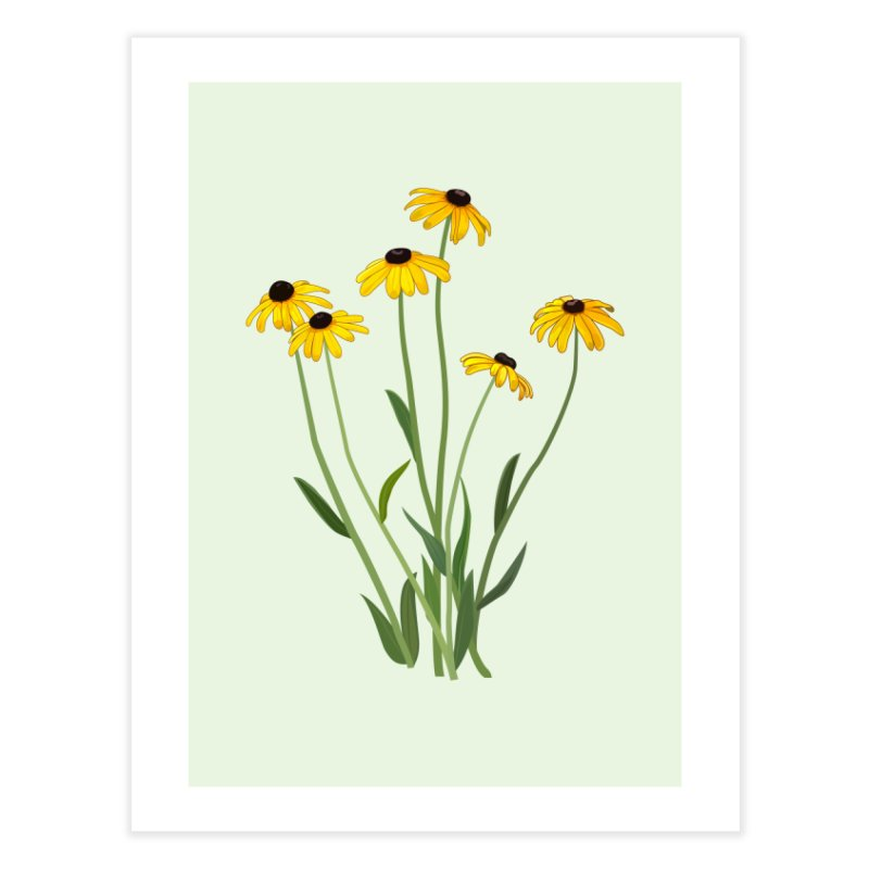 Black Eyed Susans - Wildflower Collection Home Fine Art Print by buxmontweb's Artist Shop