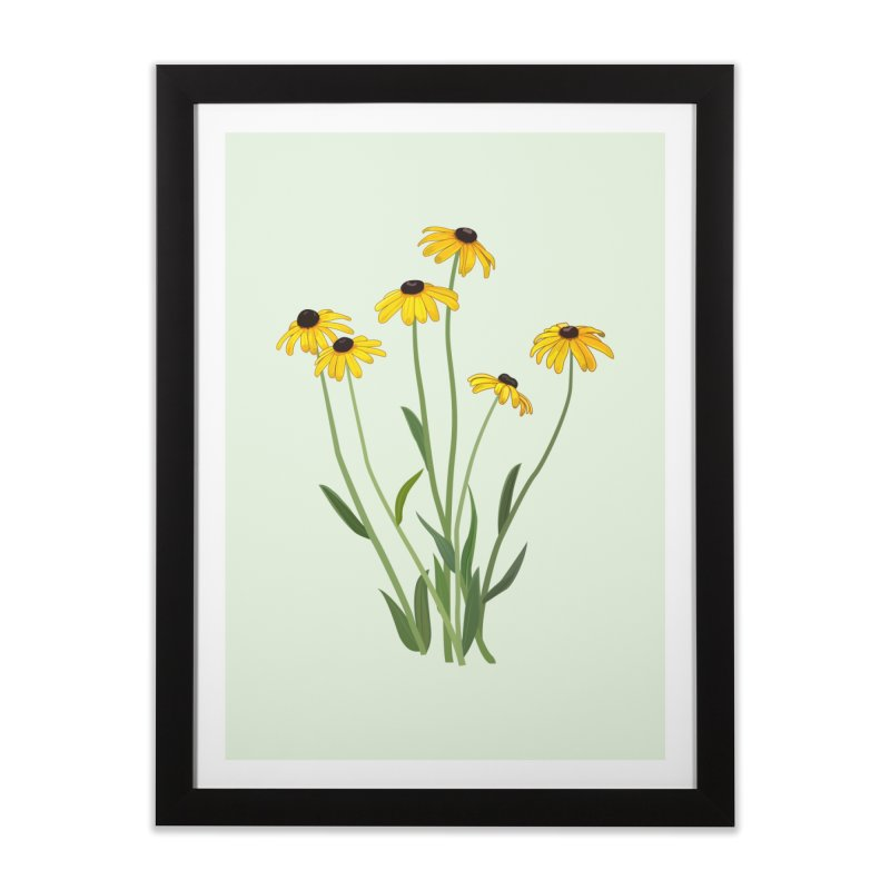 Black Eyed Susans - Wildflower Collection Home Framed Fine Art Print by buxmontweb's Artist Shop