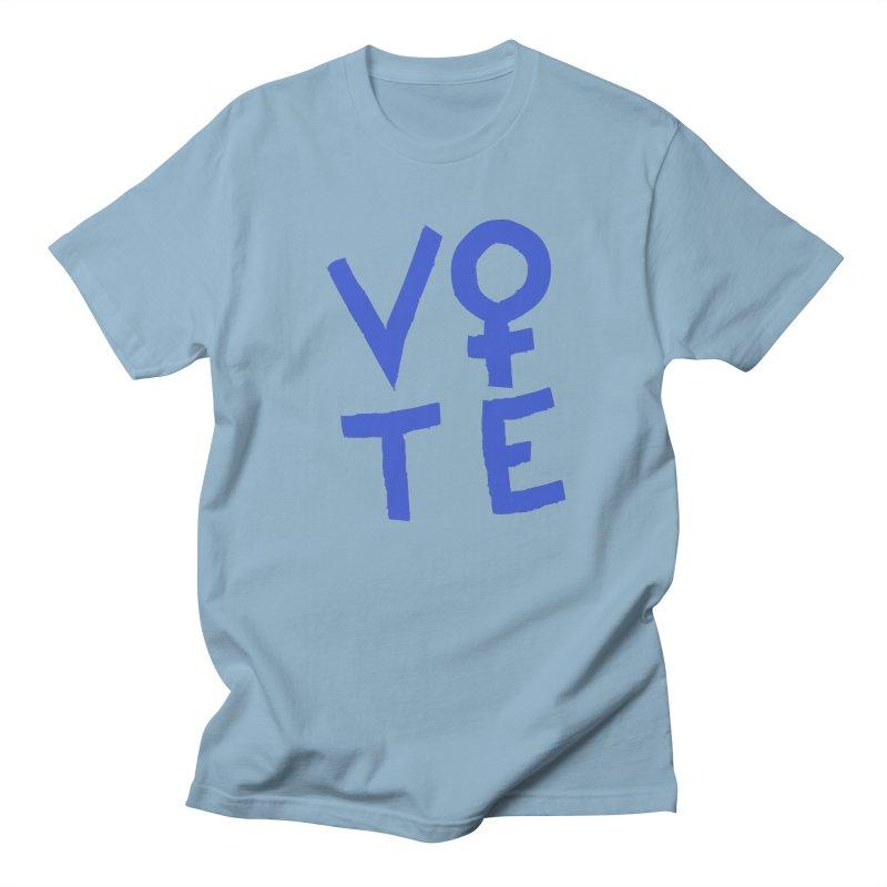 VOTE Women - Stacked Word Art (Light) Women's Regular Unisex T-Shirt by buxmontweb's Artist Shop