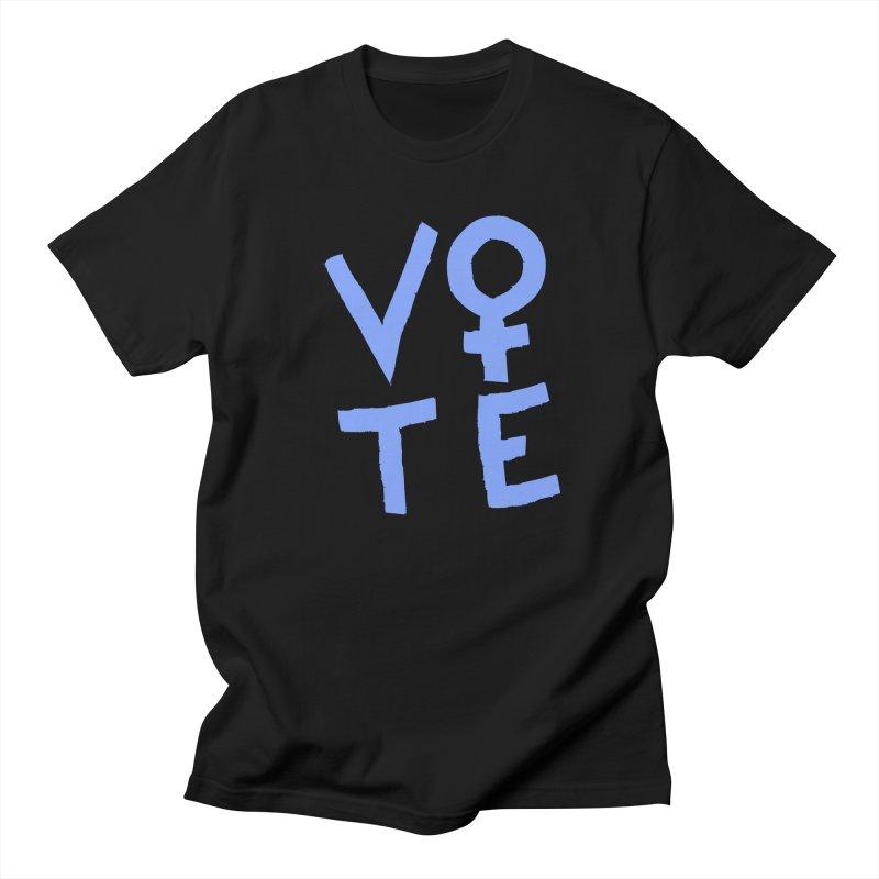 VOTE Women - Stacked Word Art (Dark) Women's Regular Unisex T-Shirt by buxmontweb's Artist Shop