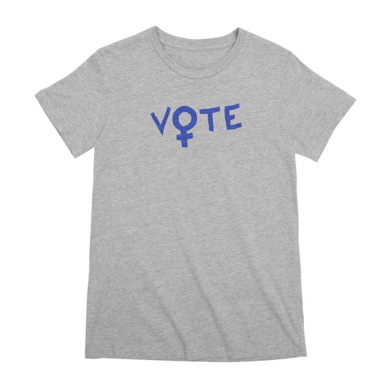 VOTE Women - Word Art (Light) Women's Premium T-Shirt by buxmontweb's Artist Shop