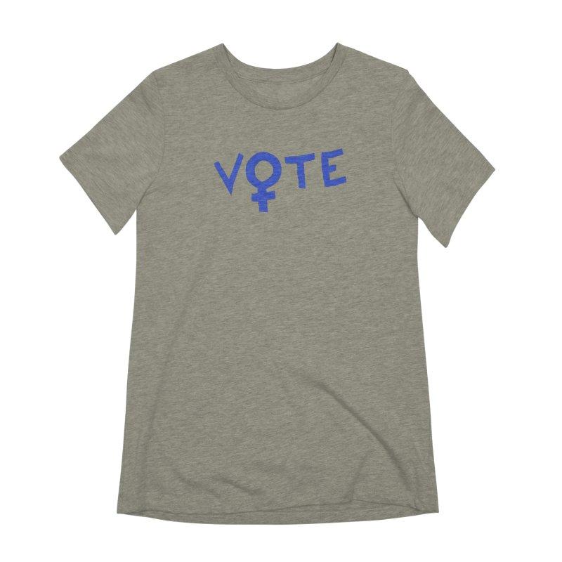VOTE Women - Word Art (Light) Women's Extra Soft T-Shirt by buxmontweb's Artist Shop