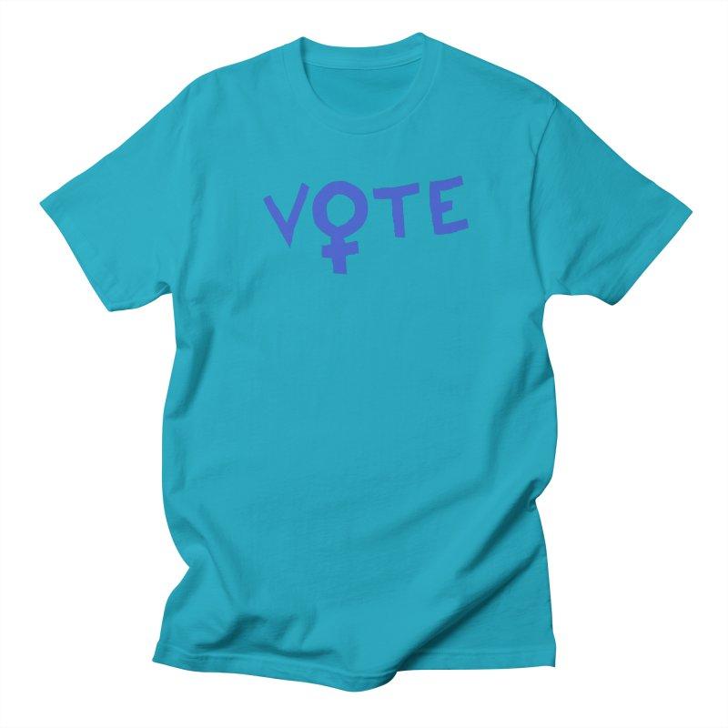 VOTE Women - Word Art (Light) Men's Regular T-Shirt by buxmontweb's Artist Shop