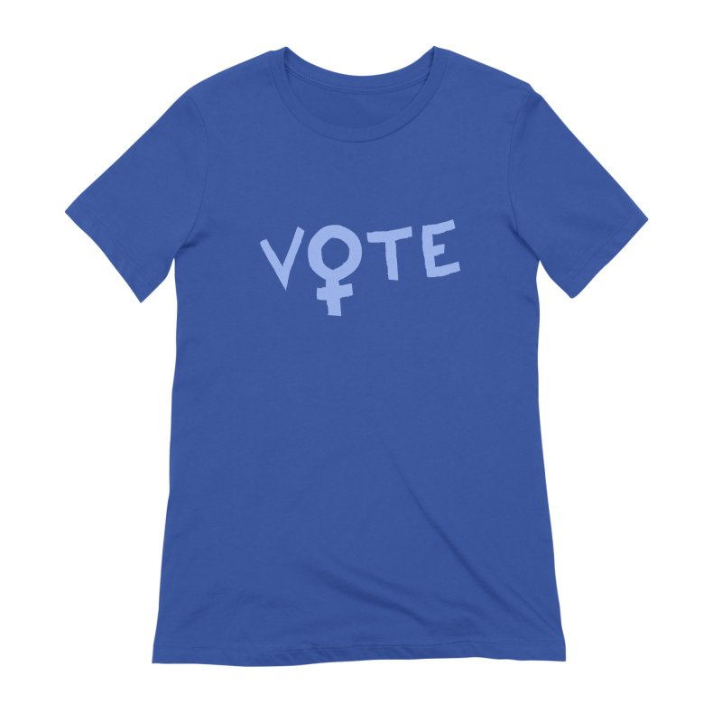VOTE Women - Word Art (Dark) Women's Extra Soft T-Shirt by buxmontweb's Artist Shop