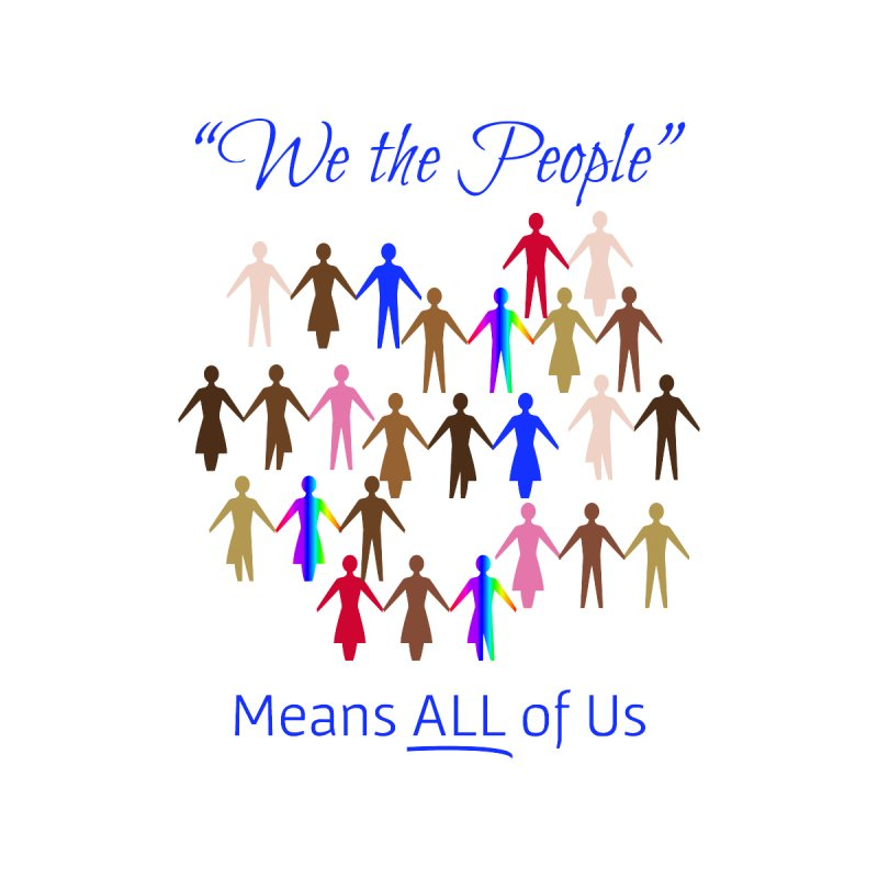 We the People Men's T-Shirt by buxmontweb's Artist Shop