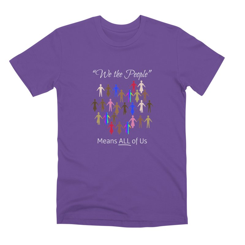 We the People (Dark Background) Men's Premium T-Shirt by buxmontweb's Artist Shop