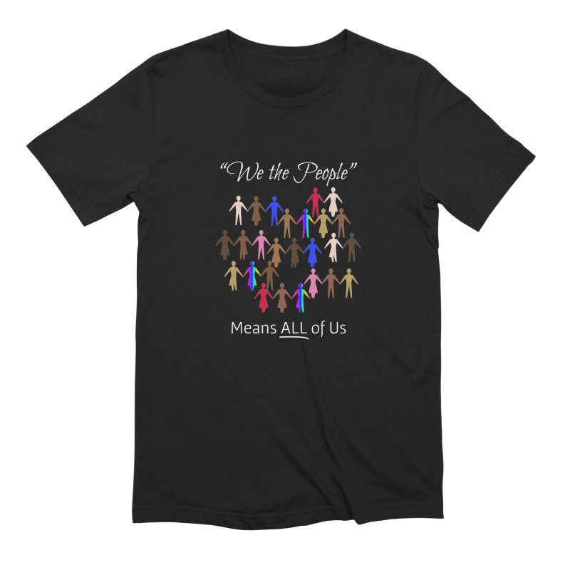 We the People (Dark Background) Men's Extra Soft T-Shirt by buxmontweb's Artist Shop
