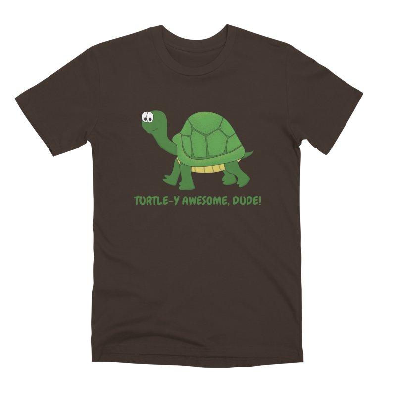 Turtle-y Awesome, Dude! Men's Premium T-Shirt by buxmontweb's Artist Shop