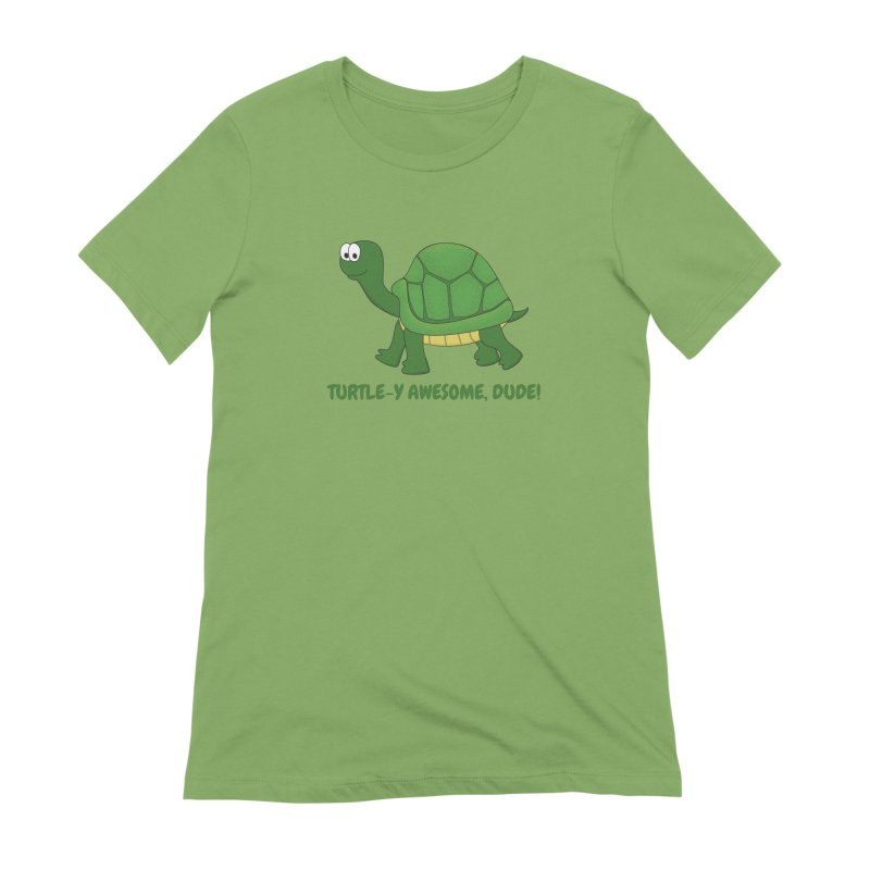 Turtle-y Awesome, Dude! Women's Extra Soft T-Shirt by buxmontweb's Artist Shop
