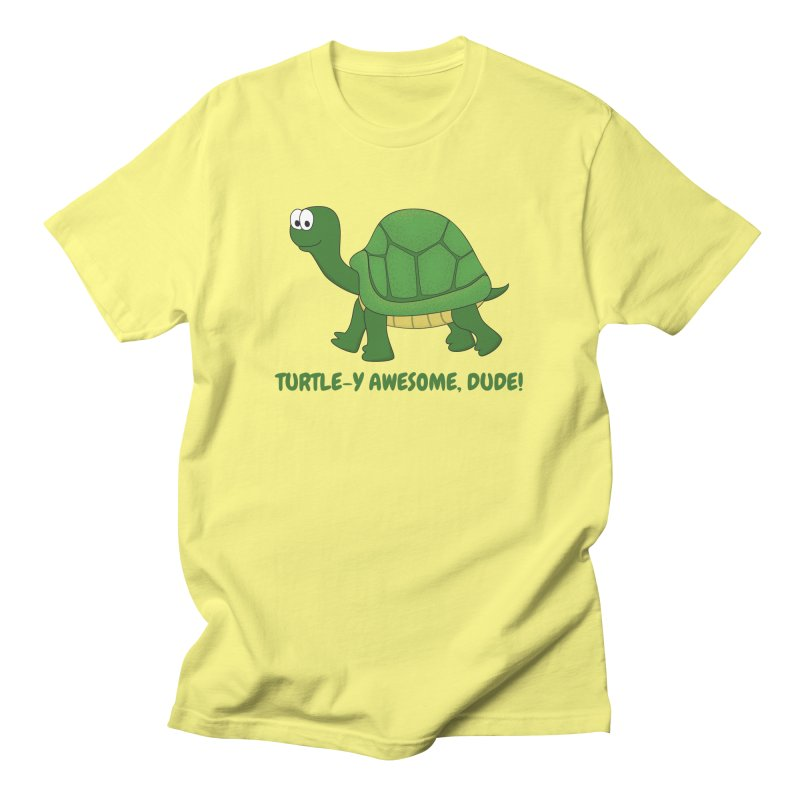 Turtle-y Awesome, Dude! Men's T-Shirt by buxmontweb's Artist Shop