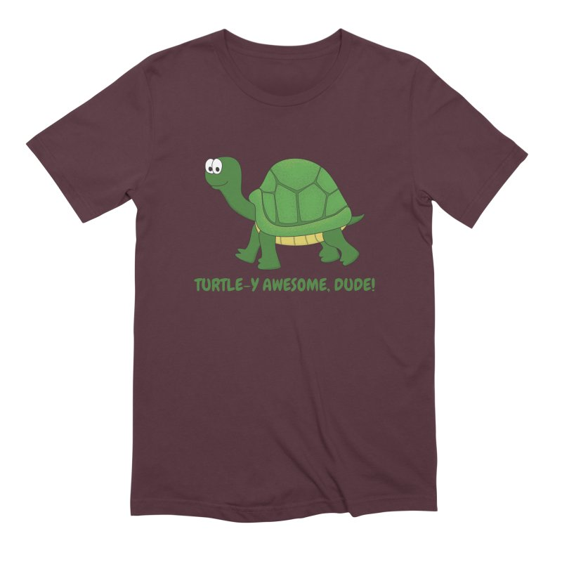 Turtle-y Awesome, Dude! Men's Extra Soft T-Shirt by buxmontweb's Artist Shop