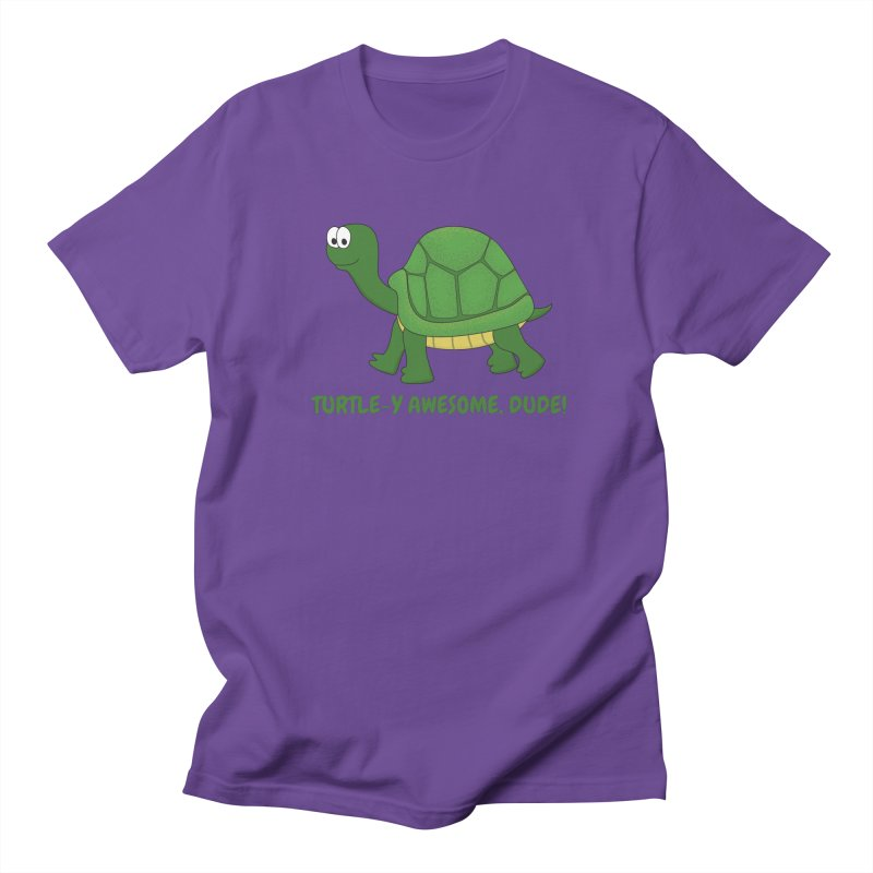 Turtle-y Awesome, Dude! Women's Regular Unisex T-Shirt by buxmontweb's Artist Shop