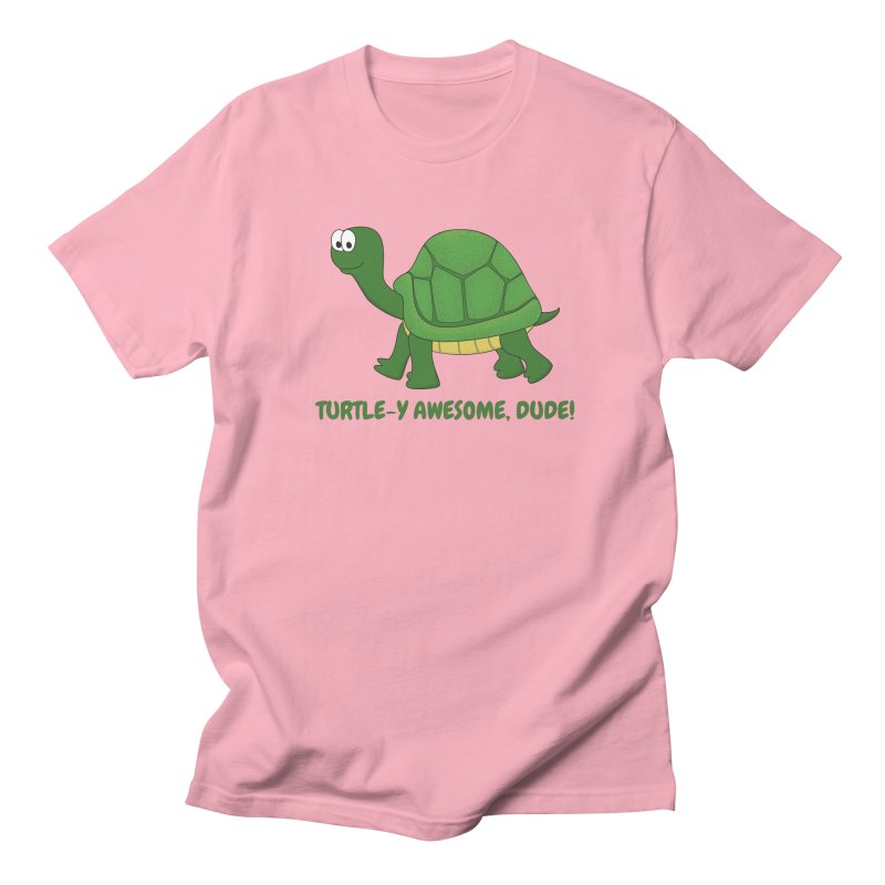 Turtle-y Awesome, Dude! Men's Regular T-Shirt by buxmontweb's Artist Shop