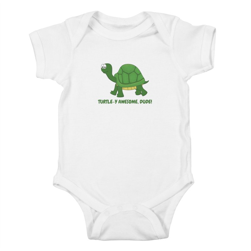Turtle-y Awesome, Dude! Kids Baby Bodysuit by buxmontweb's Artist Shop