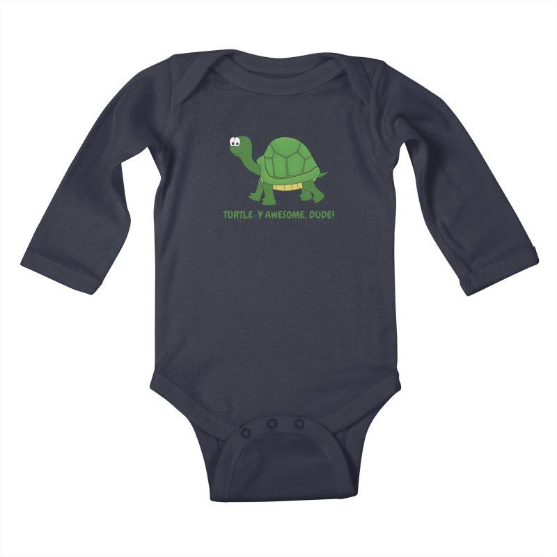 Turtle-y Awesome, Dude! Kids Baby Longsleeve Bodysuit by buxmontweb's Artist Shop