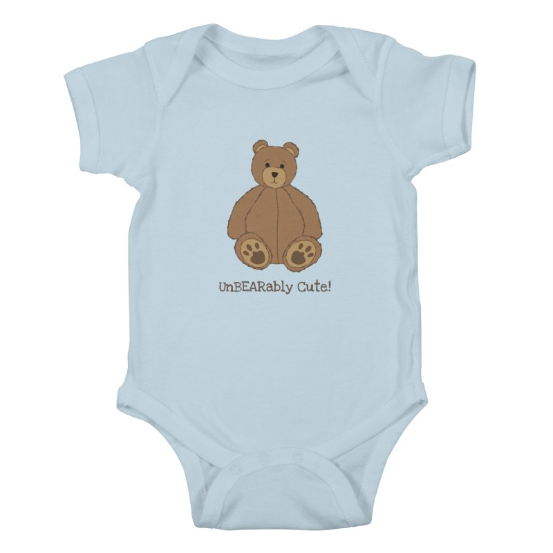"Teddy Bear ""UnBEARably Cute!"" Kids Baby Bodysuit by buxmontweb's Artist Shop"