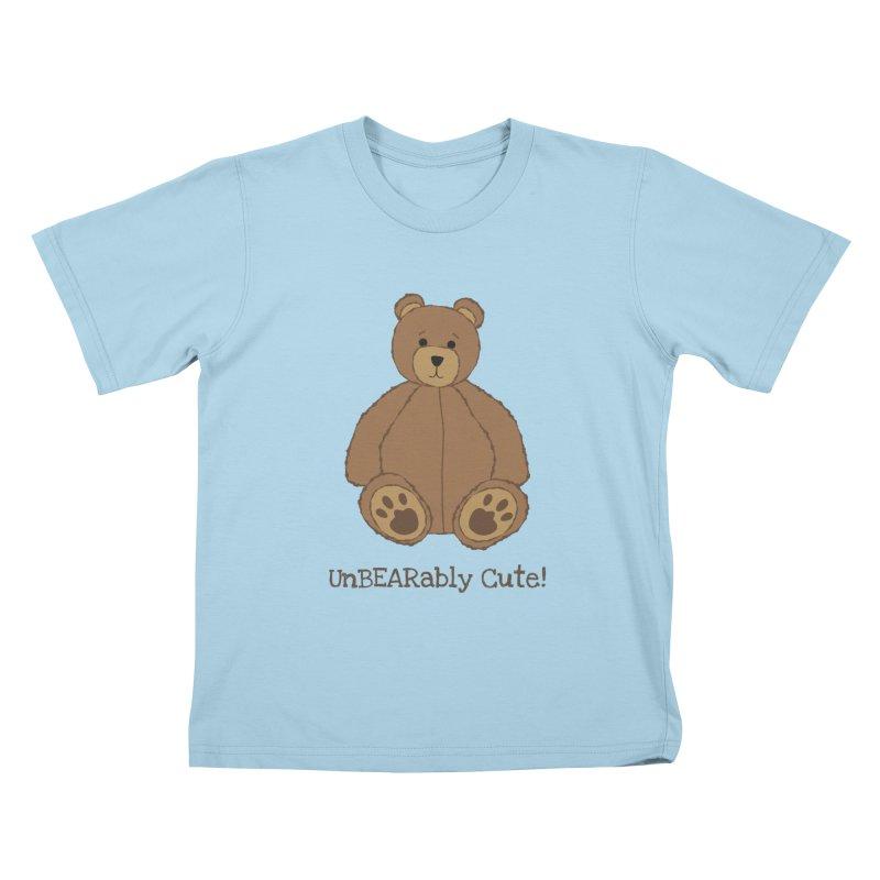 """Teddy Bear """"UnBEARably Cute!"""" Kids T-Shirt by buxmontweb's Artist Shop"""