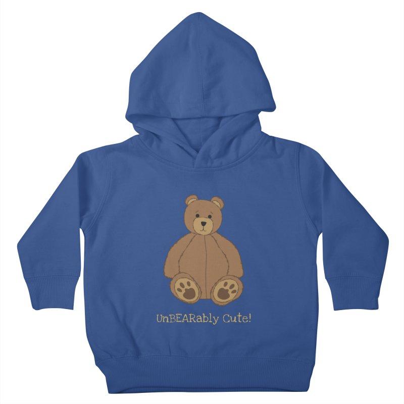 "Teddy Bear ""UnBEARably Cute!"" (Dark) Kids Toddler Pullover Hoody by buxmontweb's Artist Shop"