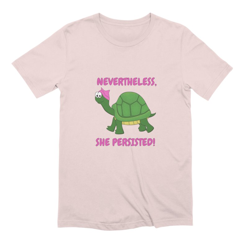 Nevertheless, She Persisted - Turtle Men's Extra Soft T-Shirt by buxmontweb's Artist Shop