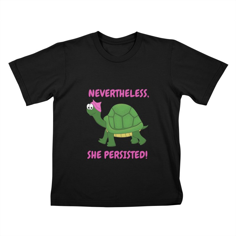 Nevertheless, She Persisted - Turtle Kids T-Shirt by buxmontweb's Artist Shop