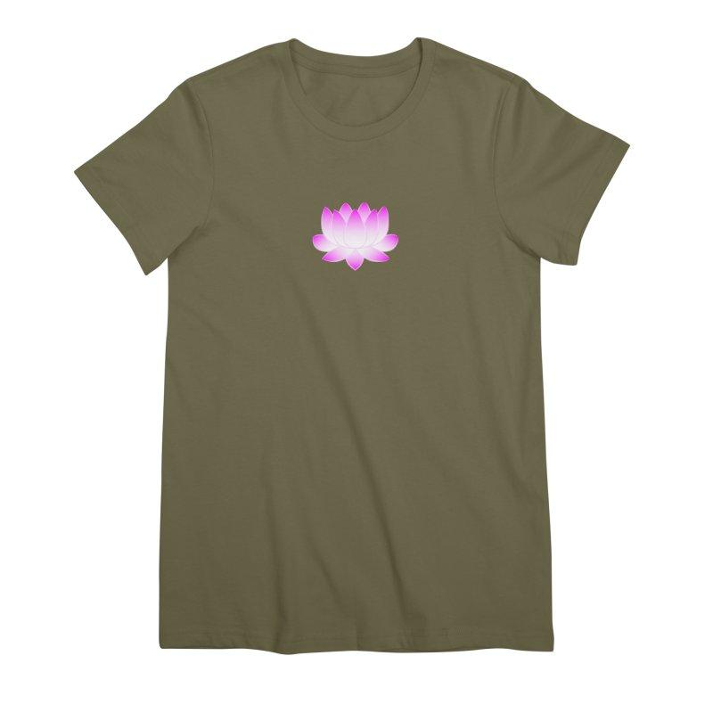 Pink Lotus Flower Women's Premium T-Shirt by buxmontweb's Artist Shop