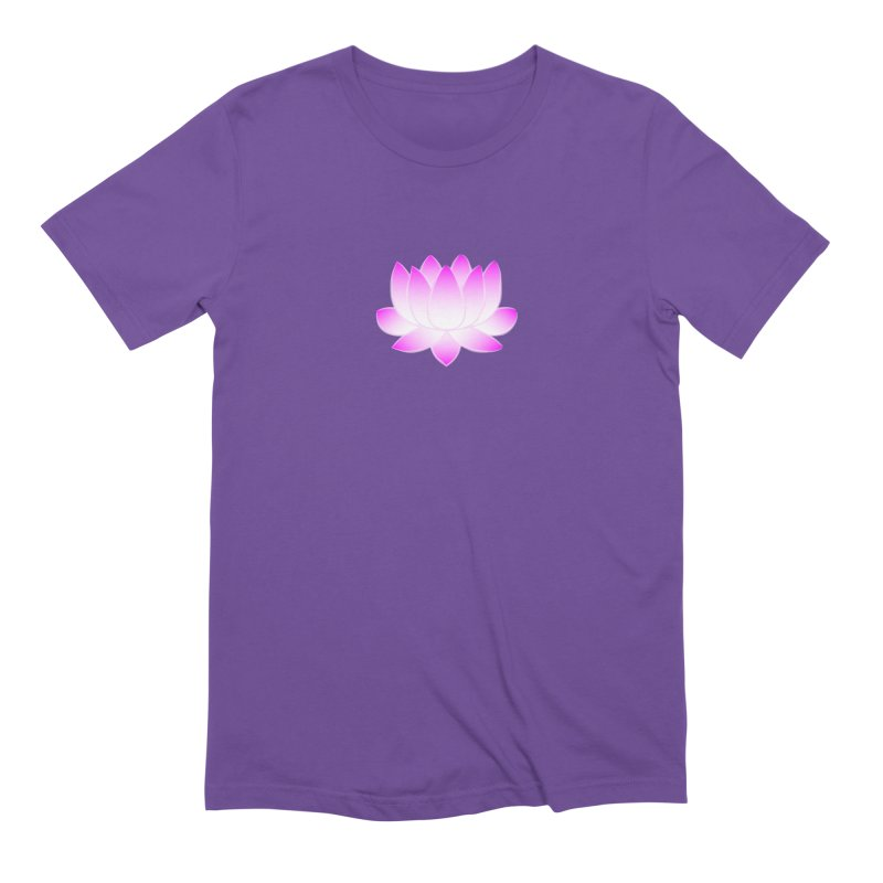 Pink Lotus Flower Men's Extra Soft T-Shirt by buxmontweb's Artist Shop