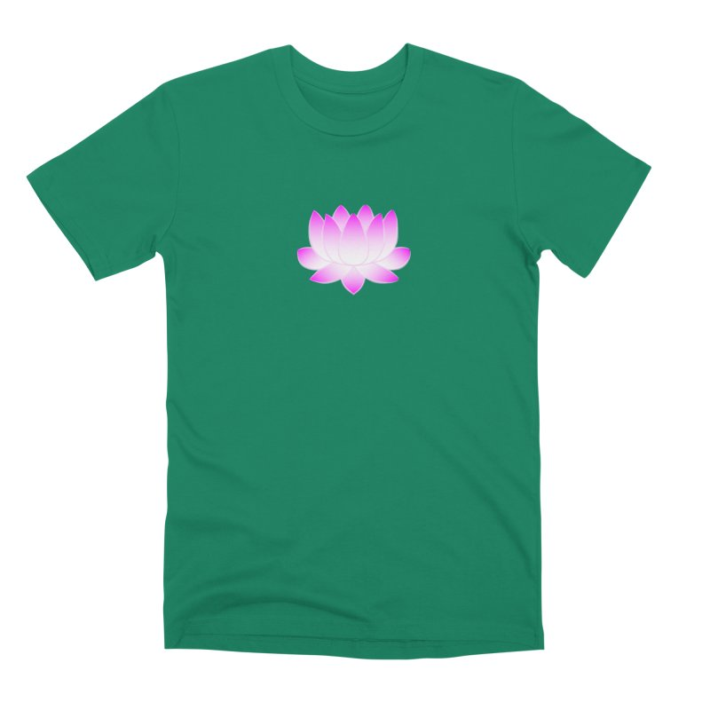 Pink Lotus Flower Men's Premium T-Shirt by buxmontweb's Artist Shop