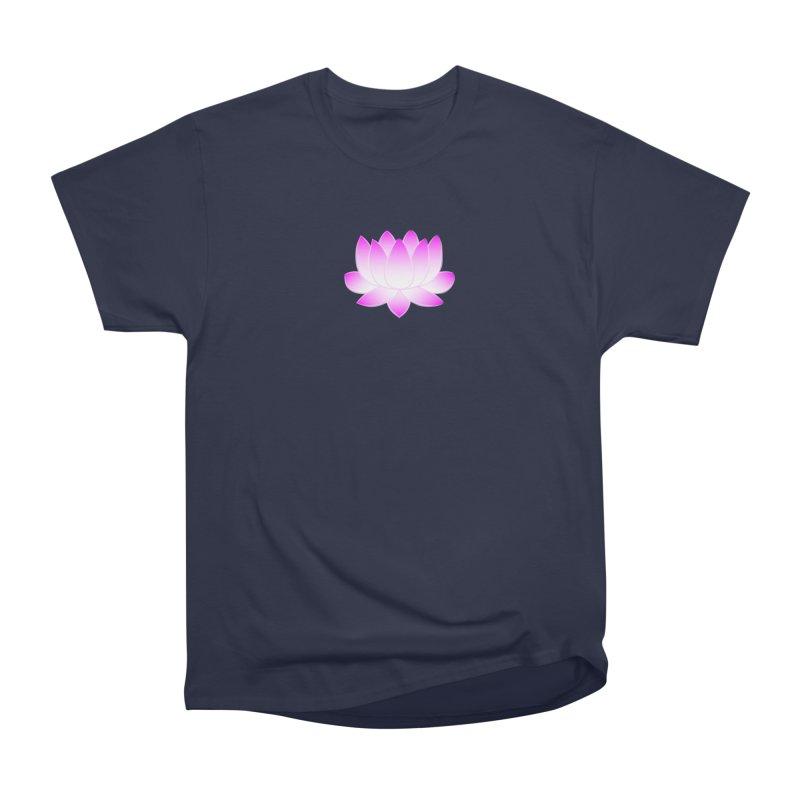 Pink Lotus Flower Men's Heavyweight T-Shirt by buxmontweb's Artist Shop