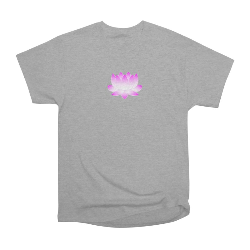 Pink Lotus Flower Women's Heavyweight Unisex T-Shirt by buxmontweb's Artist Shop