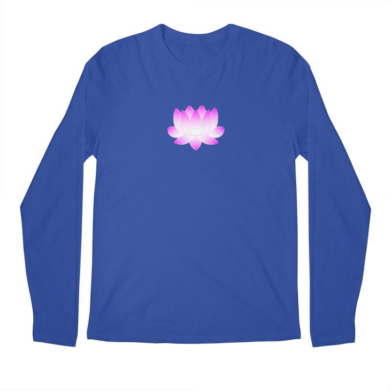 Pink Lotus Flower Men's Regular Longsleeve T-Shirt by buxmontweb's Artist Shop