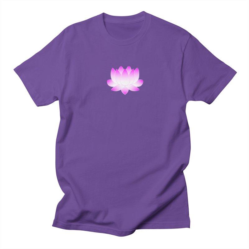 Pink Lotus Flower Women's Regular Unisex T-Shirt by buxmontweb's Artist Shop
