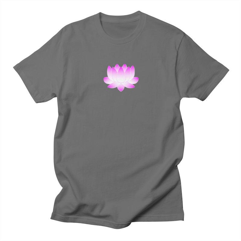 Pink Lotus Flower Men's T-Shirt by buxmontweb's Artist Shop