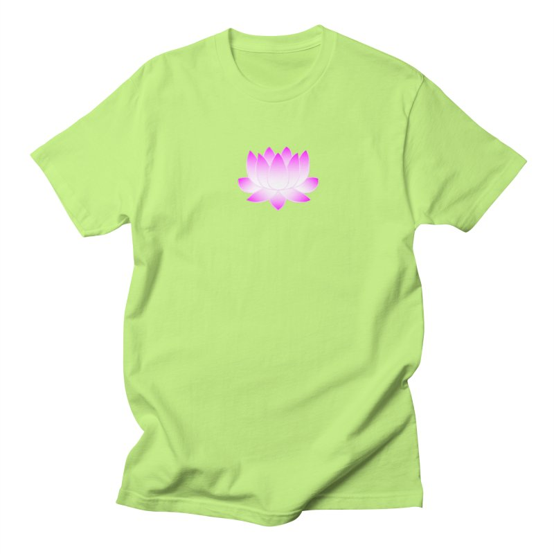 Pink Lotus Flower Women's Regular Unisex T-Shirt by buxmontweb's Artist Shop