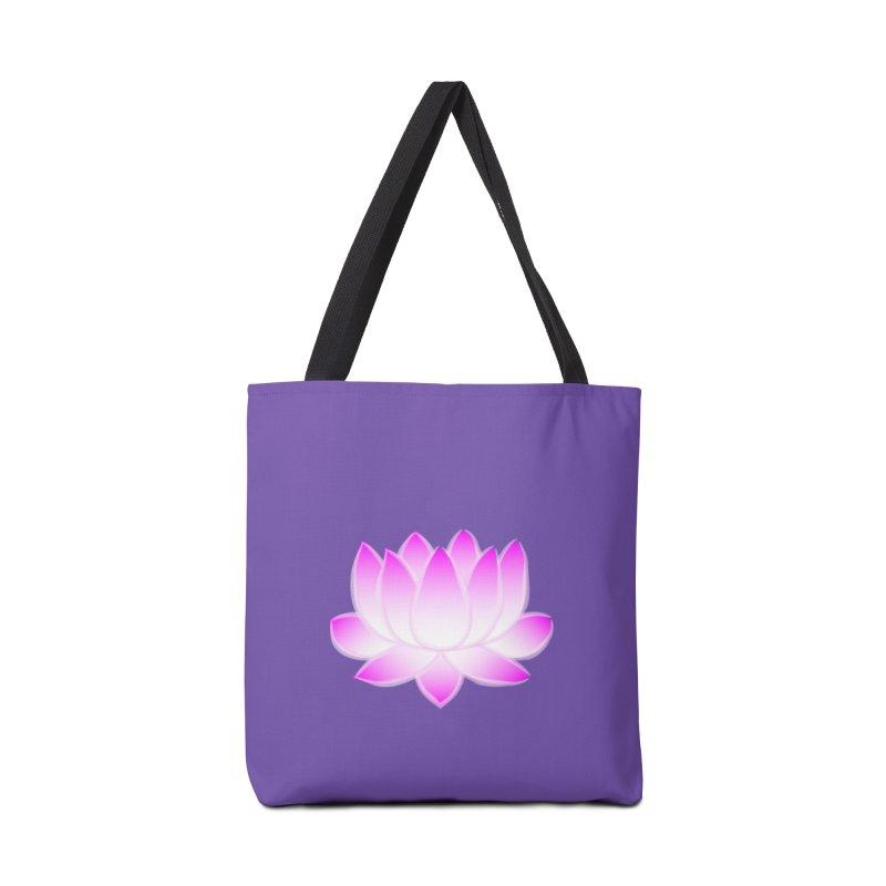 Pink Lotus Flower Accessories Tote Bag Bag by buxmontweb's Artist Shop