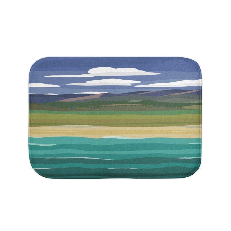 Layered Landscape Home Bath Mat by buxmontweb's Artist Shop