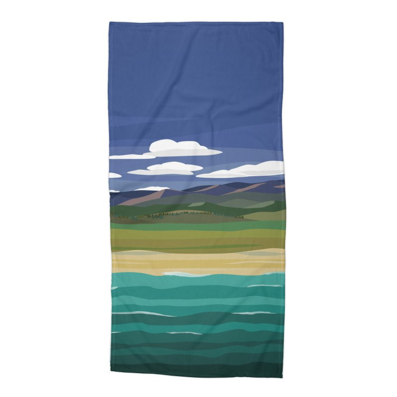 Layered Landscape Accessories Beach Towel by buxmontweb's Artist Shop