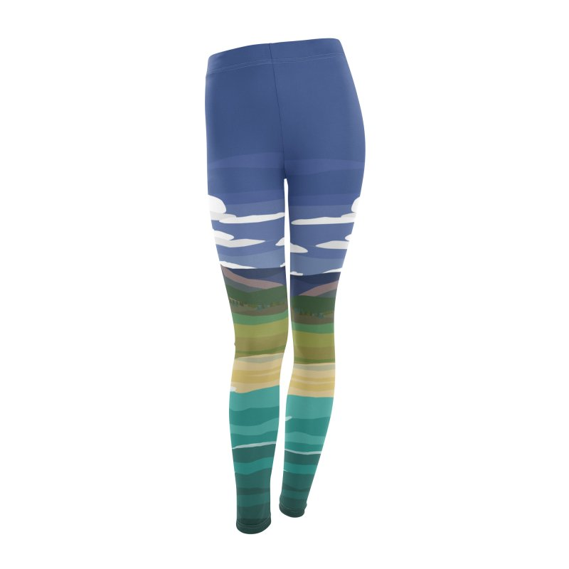 Layered Landscape Women's Leggings Bottoms by buxmontweb's Artist Shop