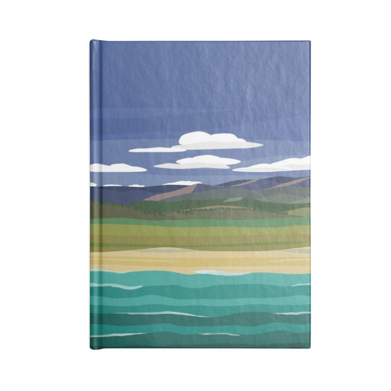 Layered Landscape Accessories Lined Journal Notebook by buxmontweb's Artist Shop