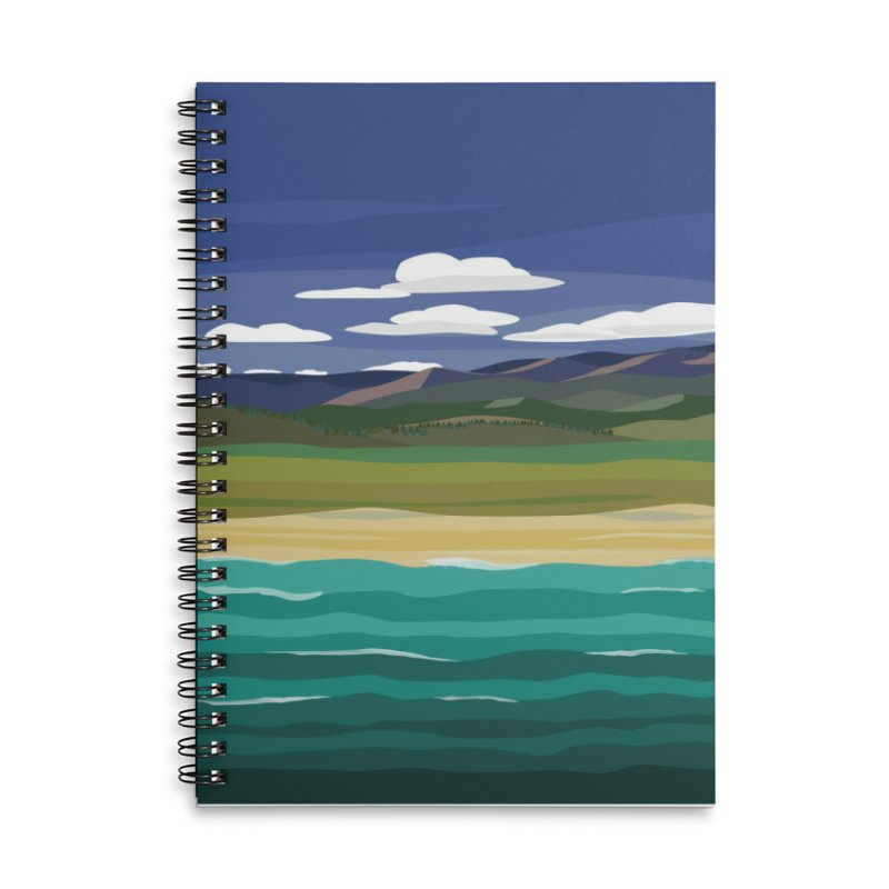 Layered Landscape Accessories Lined Spiral Notebook by buxmontweb's Artist Shop