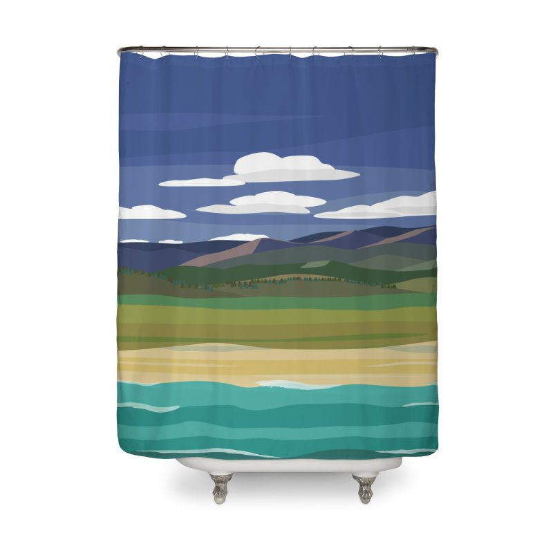 Layered Landscape Home Shower Curtain by buxmontweb's Artist Shop
