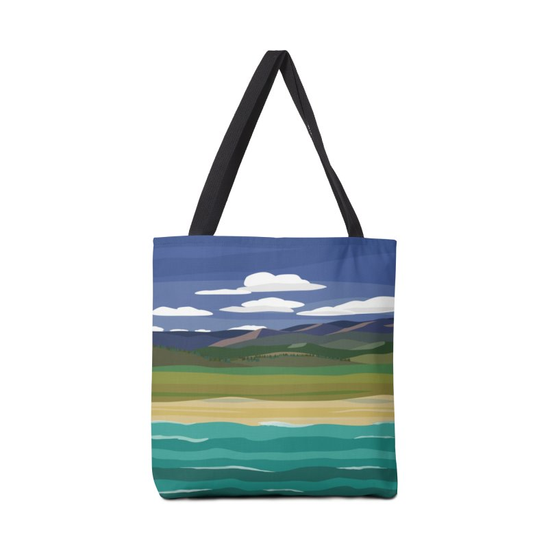 Layered Landscape Accessories Bag by buxmontweb's Artist Shop
